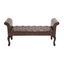 Gorgeous Wood / Leather Bench