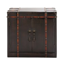 Gothic Wood / Leather Cabinet