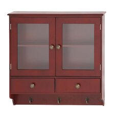 Wood Wall Cabinet with Hook