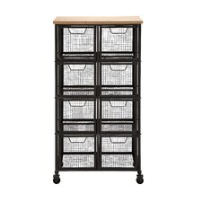 Organize with Metal / Wood Storage Cabinet