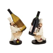 2 Piece The Delightful Chef Wine Holder
