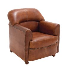 The Wood Leather Arm Chair