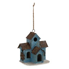 Stylish Unique Wood Metal Birdhouse