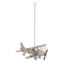 Attractive Wood Metal Airplane Sculpture