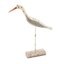 Adorable and Unique Wood Metal Sea Bird Figurine