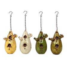 Beautiful Teardrop Design Hanging Birdhouse (Set of 4)