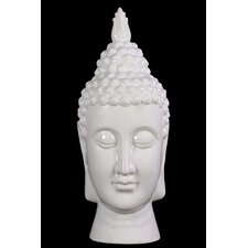 Compulsive and Spiritual Ceramic Buddha Head Bust