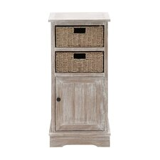 Wood 2 Basket Cabinet