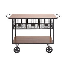The Heartthrob Metal Wood Basket Cart