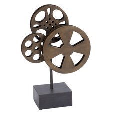 Decorative Metal Movie Reel Figurine