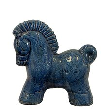 Cute and Cheerful Ceramic Horse Figurine