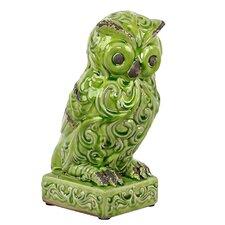 Attentive Ceramic Owl Figurine