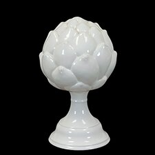 Decorative Elegant and Beautiful Ceramic Artichoke on Stand Figurine