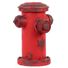 Vibrant Red Firefighting Antique Hydrant Figurine