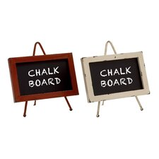 Supremely Cool Metal Wood Chalkboard (Set of 2)