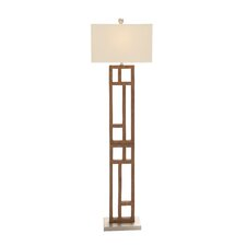 Wood Stainless Steel Floor Lamp