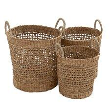 3 Piece Most Useful Seagrass Basket Set