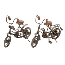 <strong>Woodland Imports</strong> 2 Piece Metal Cycles Figurine