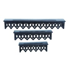 Wooden Wall Shelf (Set of 3)