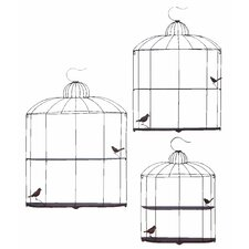 Bird Cage Decor Shelf (Set of 3)