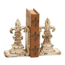 <strong>Woodland Imports</strong> Library Polystone Book Ends (Set of 2)