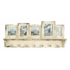 Wooden Picture Frame with Hooks