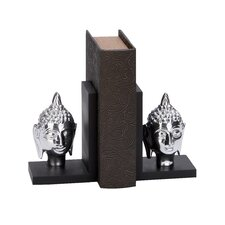 Aluminum Buddha Bookends (Set of 2)