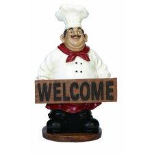 'Welome' Chef Figurine