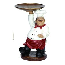 Chef with Tray Figurine