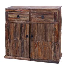 <strong>Woodland Imports</strong> Unleveled Texture 2 Drawer Cabinet