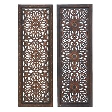 Wood Metal Wall Panel (Set of 2)