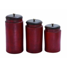 <strong>Woodland Imports</strong> 3 Piece Decorative Jar Set