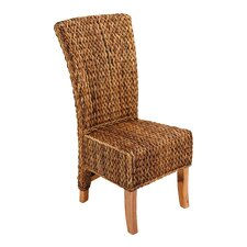<strong>Woodland Imports</strong> Abaca Leaf Side Chair