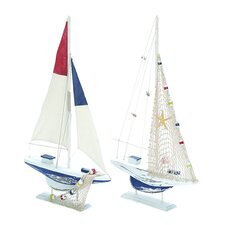 Modern 2 Piece Sailing Model Boat Set