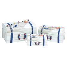 <strong>Woodland Imports</strong> Nautical Box (Set of 3)