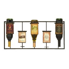 <strong>Woodland Imports</strong> 5 Bottle Wall Mounted Wine Rack