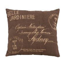 <strong>Woodland Imports</strong> Paris Postcard Theme Pillow