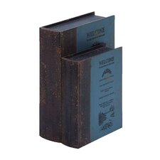 <strong>Woodland Imports</strong> Welcome Guest Book Boxes (Set of 2)