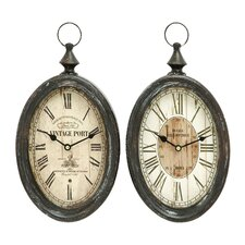 <strong>Woodland Imports</strong> Wall Clock (Set of 2)