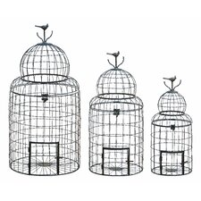 3 Piece Victorian Style Decorative Bird Cage