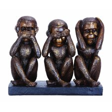 Monkey See, Hear, Speak No Evil Figurine