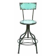 <strong>Woodland Imports</strong> Old Look Adjustable Bar Stool