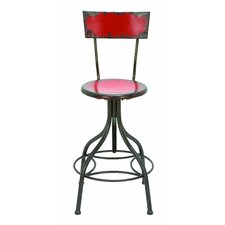Old Look Adjustable Height Bar Stool