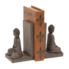 Library Polystone Buddha Book Ends (Set of 2)