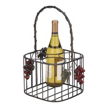 <strong>Woodland Imports</strong> 4 Bottle Tabletop Wine Rack