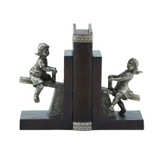 Boy and Girl Seesaw Book End (Set of 2)