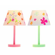 Butterfly and Flower Table Lamp (Set of 2)