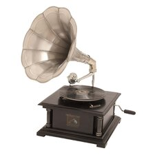 Wood Gramophone Sculpture