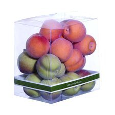<strong>Woodland Imports</strong> Decorative Small Peaches Gift Box