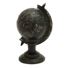 Décor Raised World Globe Figurine